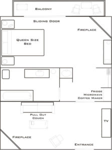 Deluxe One Bedroom Suite Layout